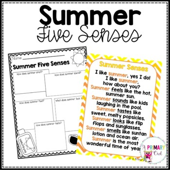 Summer! Five Senses Literacy Activities