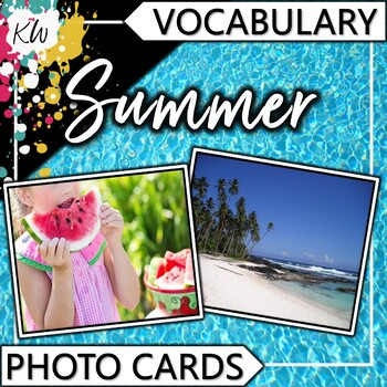 Summer Vocabulary Photo Flashcards