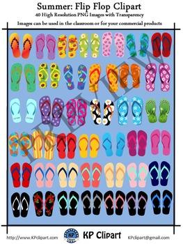 Summer Flip Flop Clipart