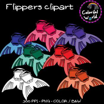Summer - Flippers clipart