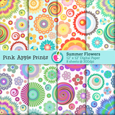 Summer Flowers Digital Paper Set- Graphics for Teachers