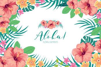 summer flowers clipart tropical summer aloha hawaiian wedding diy pack