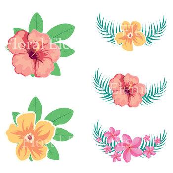 Flowers summer. Clipart tropical aloha hawaiian