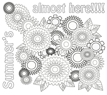 Summer Flowers Coloring Page