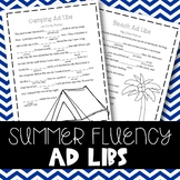 Summer Fluency Enhancing Ad-Libs (Stuttering Therapy)