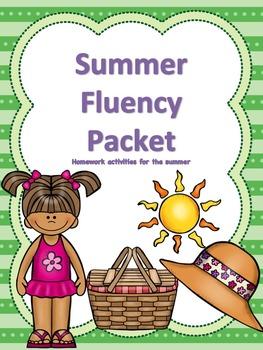 Summer Fluency Homework