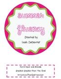 Summer Fluency Sample