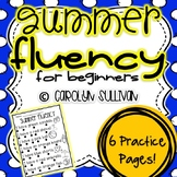 Summer Fluency Sentences for Beginning Readers