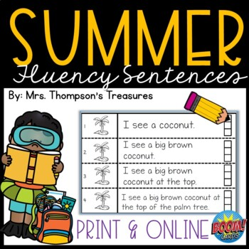 Summer Fluency Strips