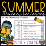 Summer Fluency Sentences