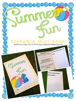 Summer Foldable Minibook