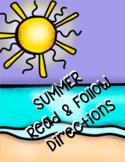 Summer Follow Directions