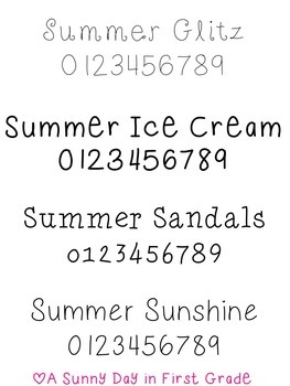 Summer Fonts Pack (8 fonts for personal or commerical use!)