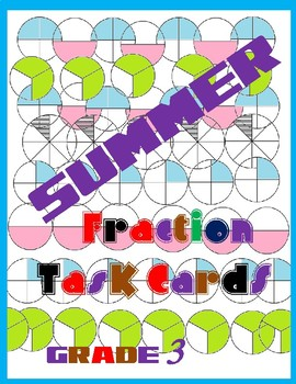 Summer Fraction Task Cards