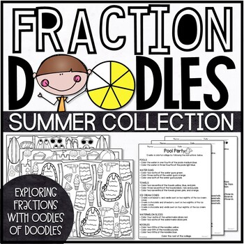 End of the Year Fractions Activities | Summer Fractions Activities