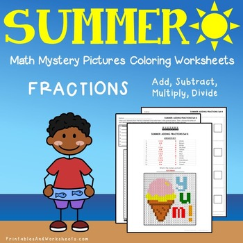 Math Coloring Worksheets Summer Teaching Resources | Teachers Pay ...