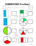 Summer Fractions Pack! Naming Fractions - Unit and Non-Uni