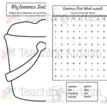 Free Summer Activity Book