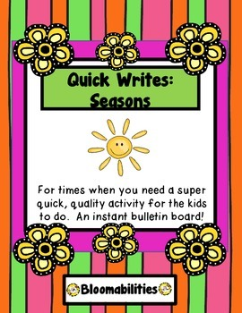 Summer Freebie: Quick Write