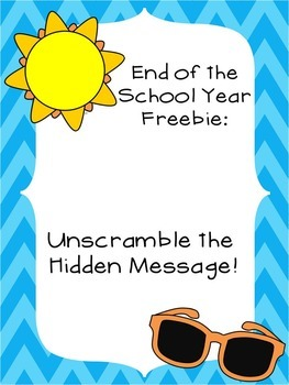 Summer Freebie: Unscramble the Hidden Message