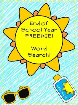 Summer Freebie: Word Search