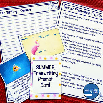 Summer Freewriting Prompt Cards