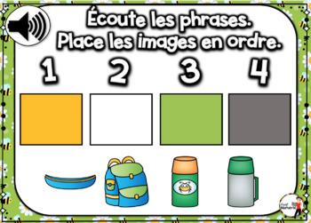 Summer French BOOM card - Écoute et replace les phrases (JUIN : Jeu 5)