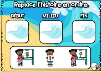 Summer French BOOM card-Replace l'histoire en ordre. (JUIN : Jeu 4)