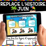 Summer French BOOM card-Replace l'histoire en ordre. (JUIN