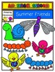 Summer Friends Clip Art Set