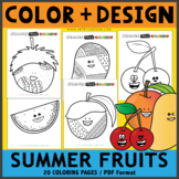 Summer Fruits Coloring Pages