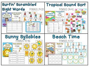 Summer Fun - 14 Literacy and Math Centers