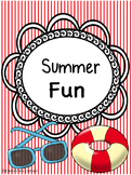 Summer Fun Activities Worksheets Activities Printables