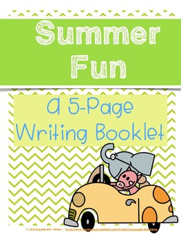 Summer Fun: A 5-Page Writing Booklet