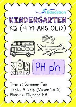 Summer Fun - A Trip (I): Digraph PH - K2 (4 years old)