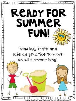 Summer Fun Academic Calendar (math, science, reading)