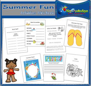 Summer Fun Activities Mini-Book