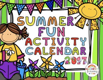 Summer Fun Activity Calendar 2017