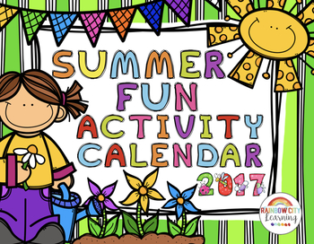 Summer Fun Activity Calendar 2016