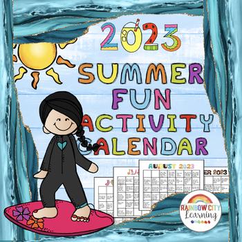 Summer Fun Activity Calendar 2017 with Lifetime Updates