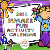 Summer Fun Activity Calendar 2018