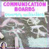 AAC Core Word Summer Activity Communication Boards  Autism