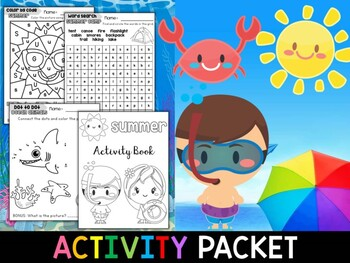 Summer Fun Activity Packet - Preschool and Kindergarten