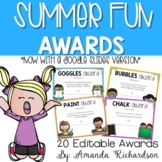 End of the Year Awards for Summer Fun
