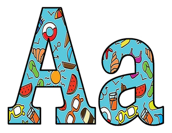 Summer Fun BB letters