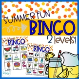 Summer Fun - BINGO - 2 levels!