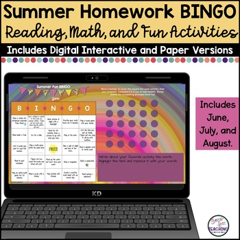 Summer Fun BINGO: A Stress-Free Summer Assignment