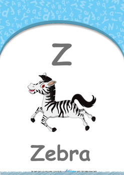 Summer Fun - Balloons : Letter Z : Zebra - Nursery (2 years old)