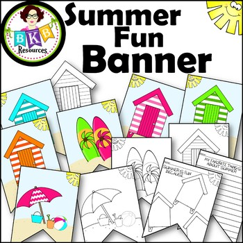 Summer Fun Banners ● Beach Themed ● Classroom Banner Set