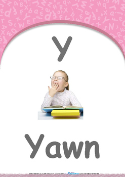 Summer Fun - Barbecue : Letter Y : Yawn - Pre-Nursery (1 year old)